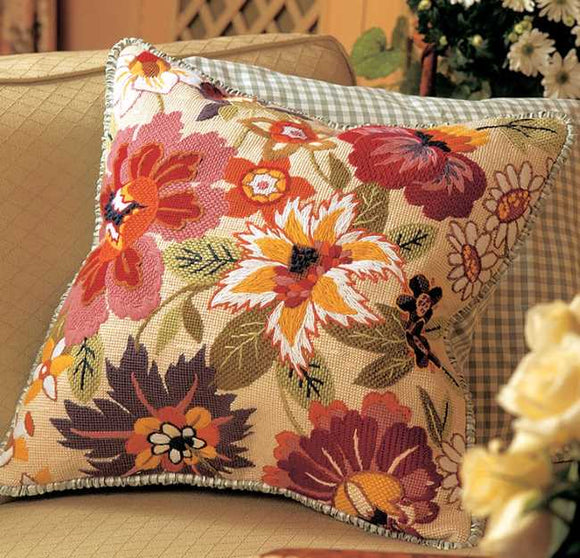 Ottoline Needlepoint Cushion Kit by Glorafilia
