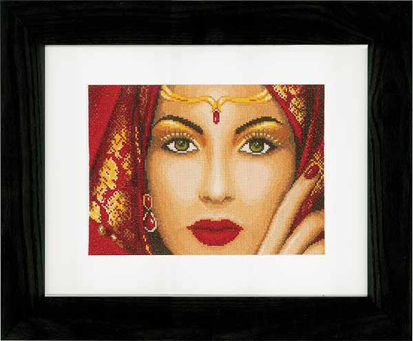Oriental Beauty Cross Stitch Kit By Lanarte