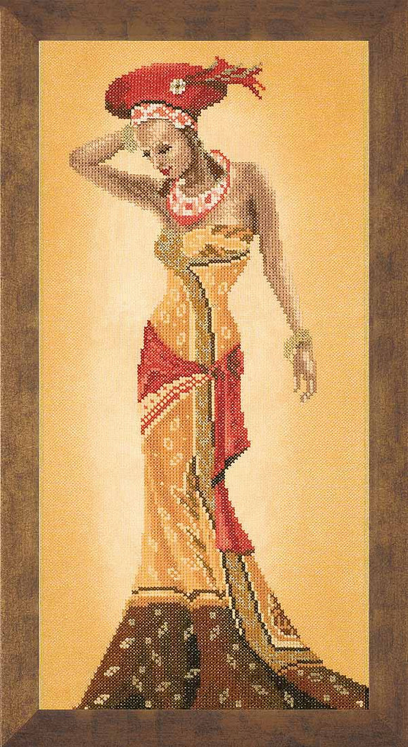 African Fashion Cross Stitch Kit By Lanarte