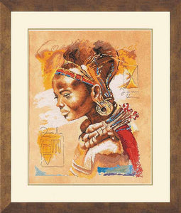 African Woman Cross Stitch Kit By Lanarte