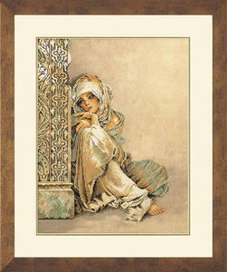Arabian Woman Cross Stitch Kit By Lanarte