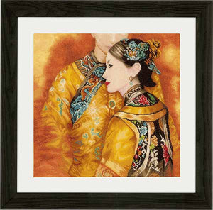 Asian Couple Cross Stitch Kit By Lanarte