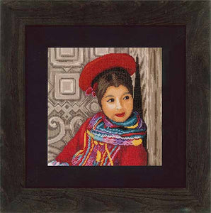 Peruvian Girl Cross Stitch Kit By Lanarte