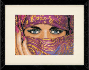 Veiled Woman Cross Stitch Kit By Lanarte