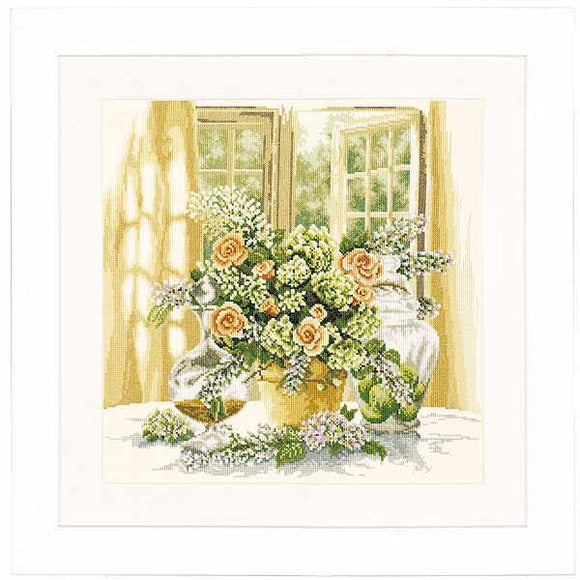 A Sunny Morning Cross Stitch Kit By Lanarte