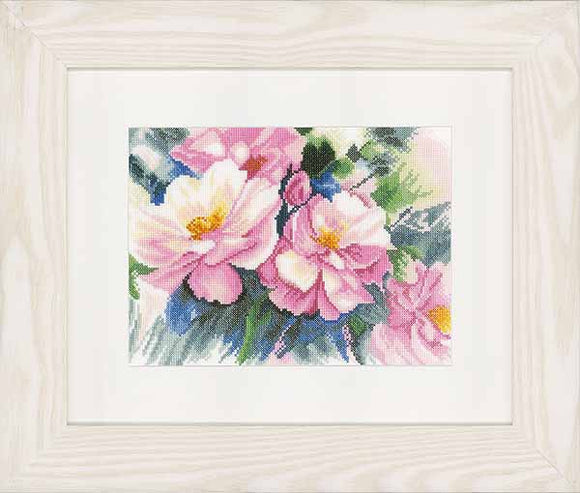 Beautiful Roses Cross Stitch Kit By Lanarte