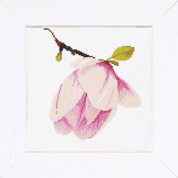 Magnolia Bud Cross Stitch Kit By Lanarte