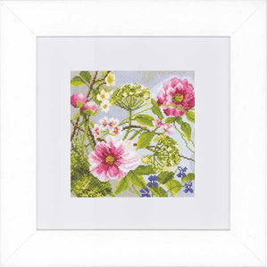 Peonies Cross Stitch Kit By Lanarte
