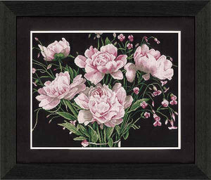 Pink Roses Cross Stitch Kit By Lanarte