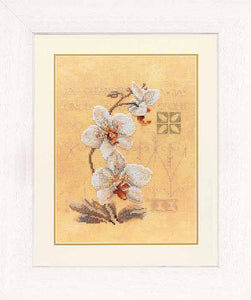 Three Orchids Cross Stitch Kit By Lanarte