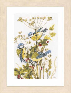 Blue Tits Cross Stitch Kit By Lanarte