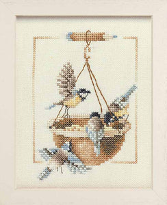 Feeding Dish with Birds Cross Stitch Kit By Lanarte