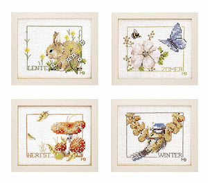 Four Seasons Cross Stitch Kit By Lanarte