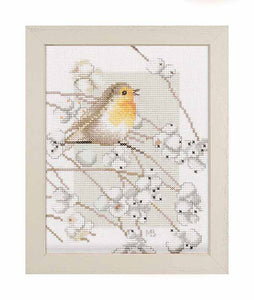 Robin Cross Stitch Kit By Lanarte