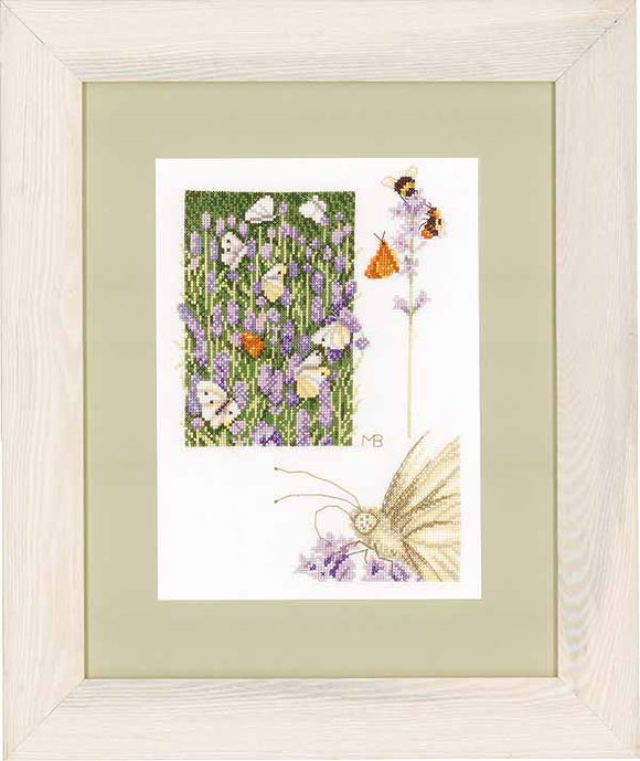 Lavender Field Cross Stitch Kit By Lanarte