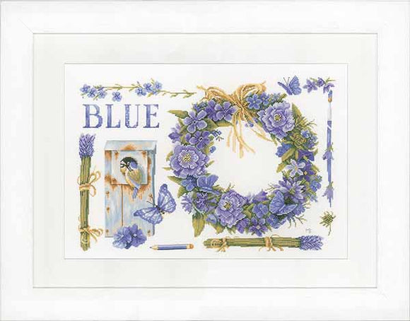 Lavender Wreath Cross Stitch Kit By Lanarte