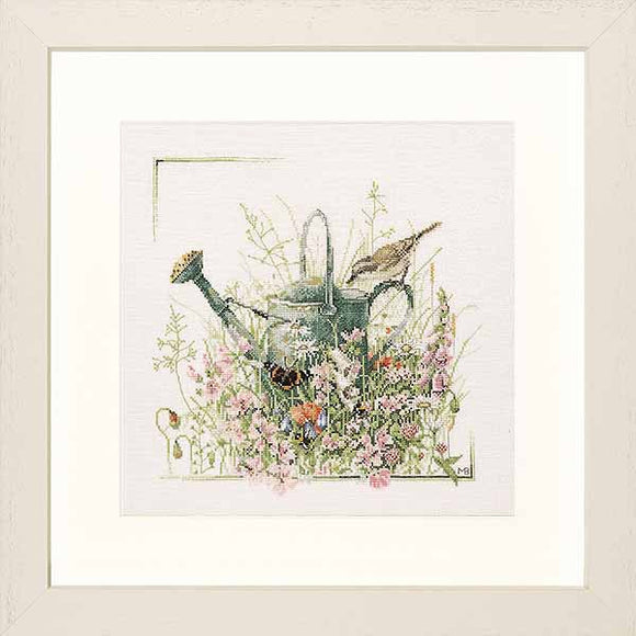 Watering Can Cross Stitch Kit By Lanarte