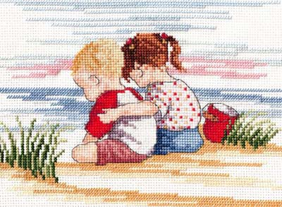 Sibling Love All Our Yesterdays Cross Stitch Kit by Faye Whittaker