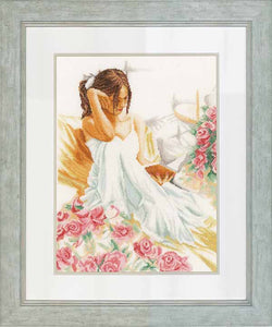 Moment of Reading Cross Stitch Kit By Lanarte