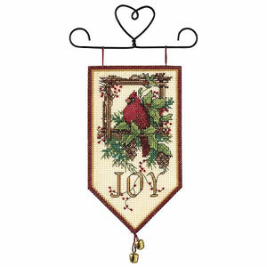Cardinal Joy Banner Cross Stitch Kit By Dimensions