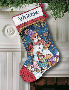 Cute Carollers Christmas Stocking Cross Stitch Kit by Dimensions