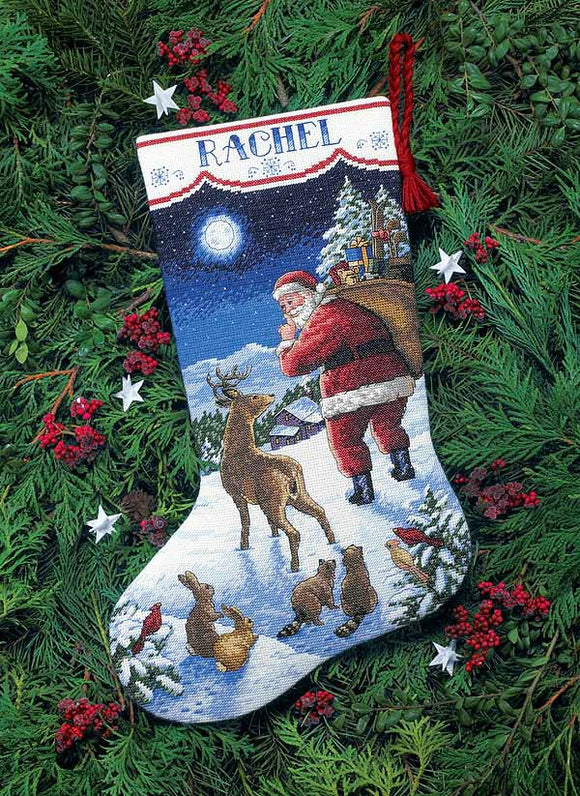Santas Arrival Christmas Stocking Cross Stitch Kit by Dimensions