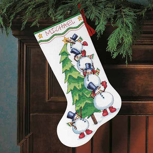 Trimming the Tree Christmas Stocking Cross Stitch Kit by Dimensions