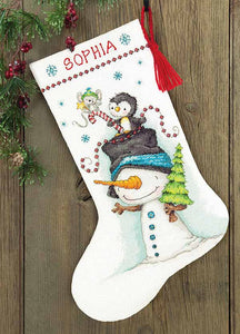 Jolly Trio Christmas Stocking Cross Stitch Kit by Dimensions