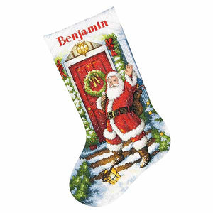 Welcome Santa Christmas Stocking Cross Stitch Kit by Dimensions