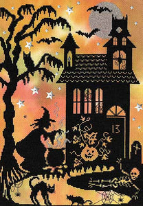 Pumpkin House Cross Stitch Kit By Bothy Threads