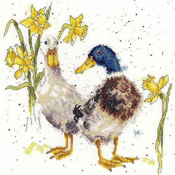 Ducks and Daffs Cross Stitch Kit By Bothy Threads