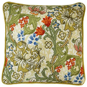 Golden Lily William Morris Tapestry Cushion Kit By Bothy Threads