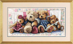 A Row of Love Cross Stitch Kit by Dimensions