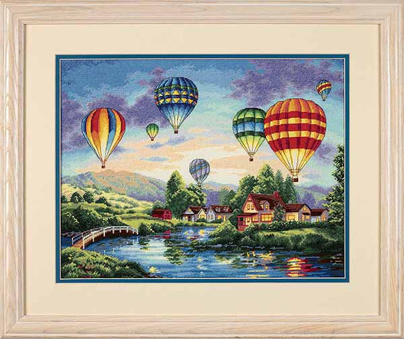 Balloon Glow Cross Stitch Kit by Dimensions