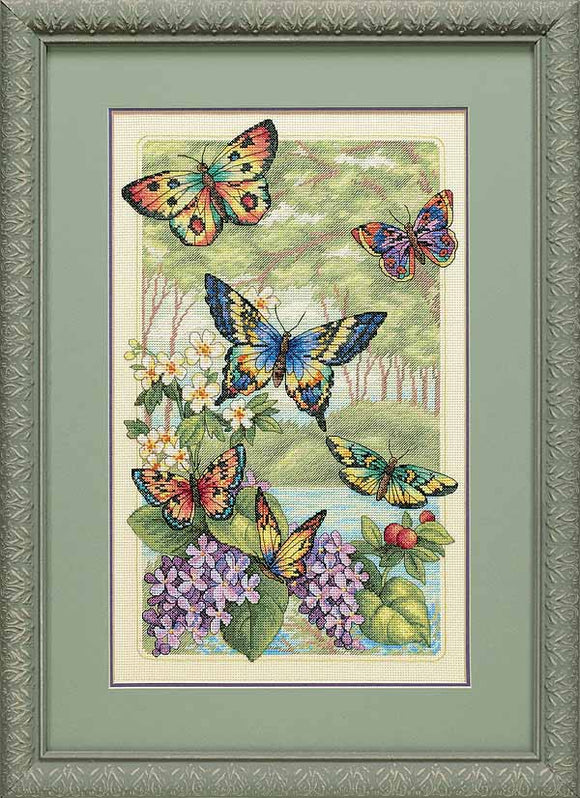 Butterfly Forest Cross Stitch Kit by Dimensions