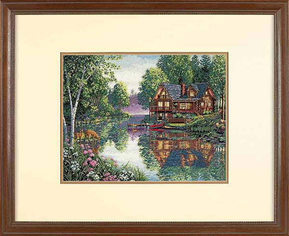 Cabin Fever Cross Stitch Kit by Dimensions