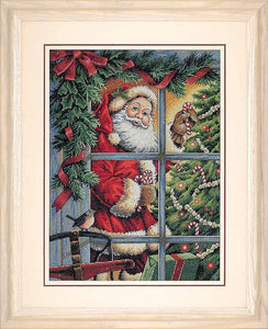 Candy Cane Santa Cross Stitch Kit by Dimensions