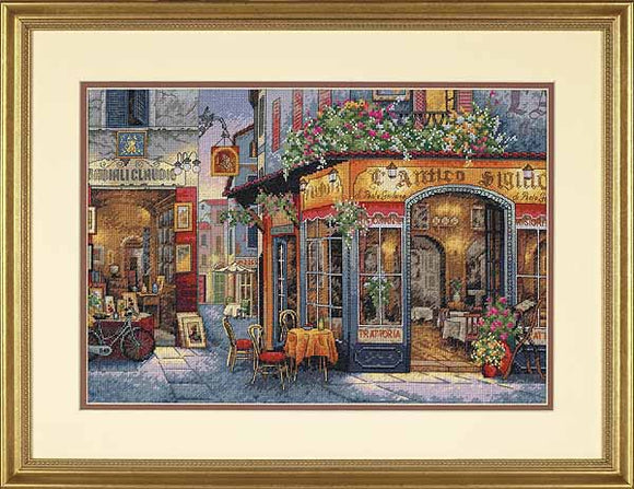 European Bistro Cross Stitch Kit by Dimensions