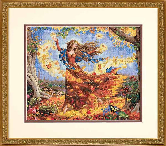 Fall Fairy Cross Stitch Kit by Dimensions