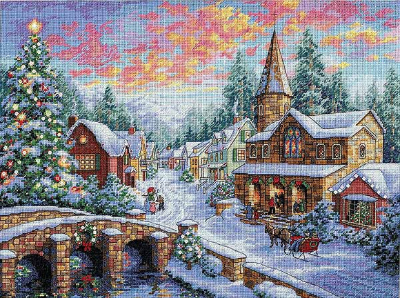 Holiday Village Cross Stitch Kit by Dimensions