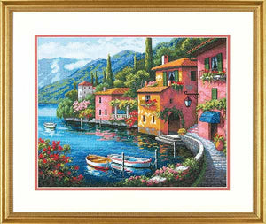 Lakeside Village Cross Stitch Kit by Dimensions