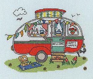 Sew Dinky Caravan Cross Stitch Kit By Bothy Threads