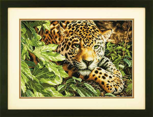 Leopard in Repose Cross Stitch Kit by Dimensions