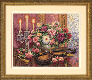 Romantic Floral Cross Stitch Kit by Dimensions