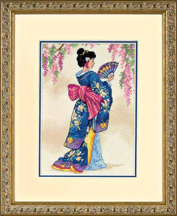 Elegant Geisha Cross Stitch Kit by Dimensions