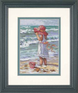 Girl at the Beach Cross Stitch Kit by Dimensions