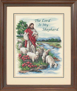 The Lord is my Shepherd Printed Cross Stitch Kit by Dimensions