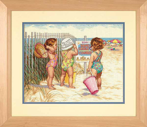 Beach Babies Cross Stitch Kit by Dimensions