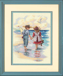 Holding Hands Cross Stitch Kit by Dimensions