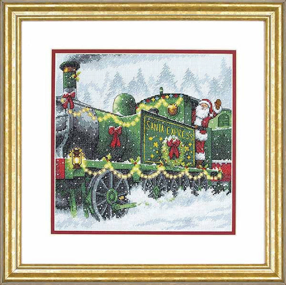 Santa Express Cross Stitch Kit by Dimensions